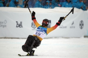 Josh Dueck has won more medals since his paralyzing ski injury than ever before. photo: Hannah Johnson