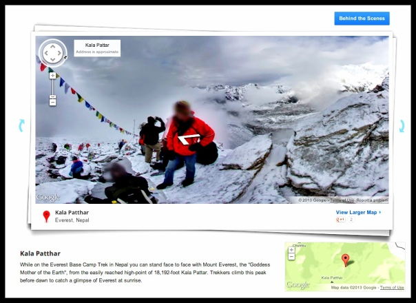 "Google ""street view"" of Everest base camp."
