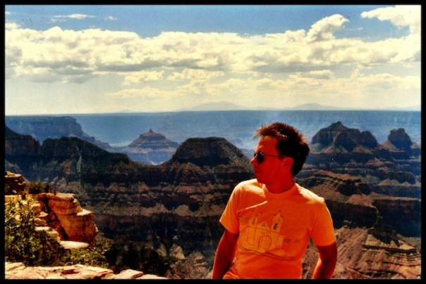 author Ric Gibbs at Bright Angel Pt. on the north rim of the canyon.